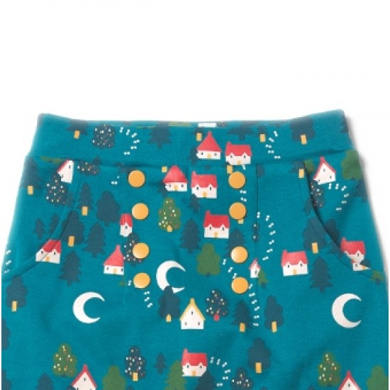 Pantaloni Salvari din bumbac organic - Little Green Radicals - Forest Footprints