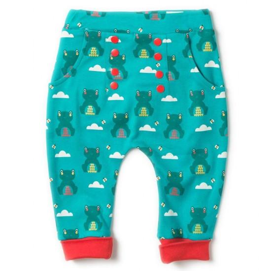 Pantaloni Salvari din bumbac organic - Little Green Radicals - River Frog Joggers