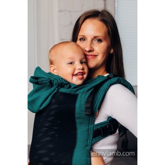 Marsupiu LennyGo Toddler - Mesh - Basic Line Emerald