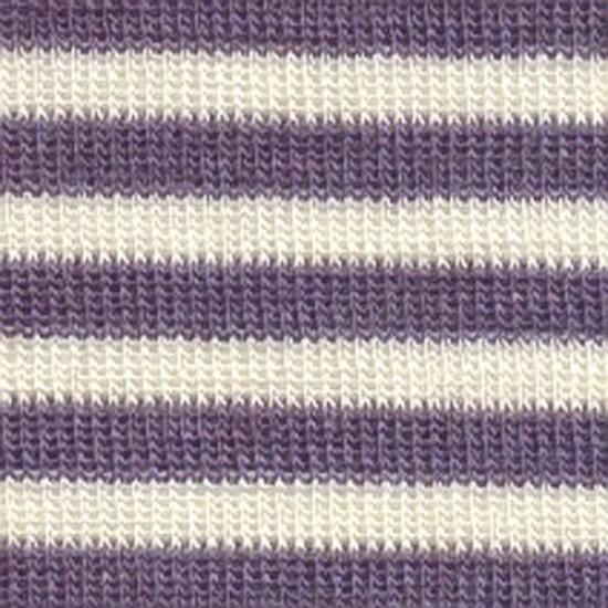 Esarfa multifunctionala din lana merinos si matase - Pickapooh - Purple Stripes
