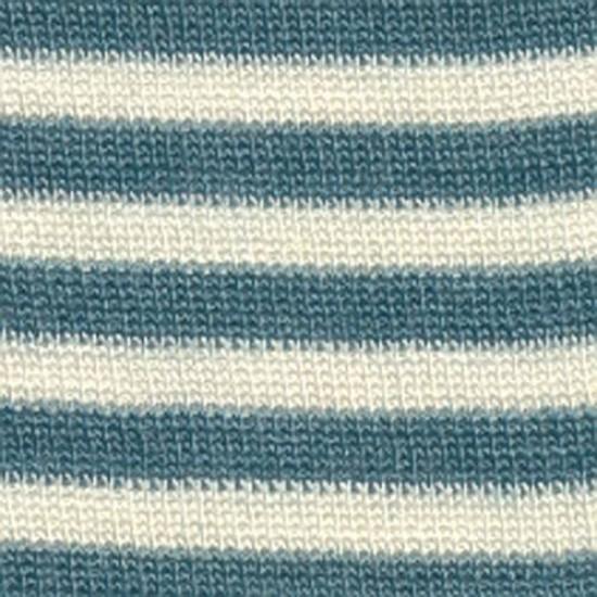 Caciulita din lana merinos si matase - Pickapooh - Green Stripes