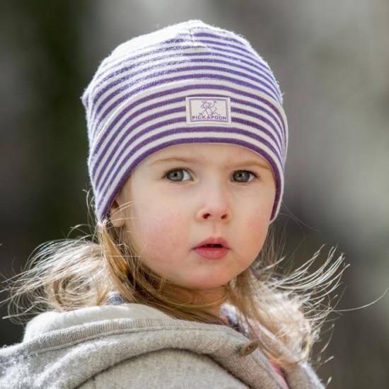 Fes Purple Stripes din lana merinos si matase