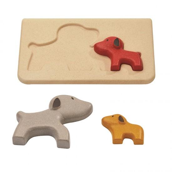 Catelusi - Puzzle din lemn