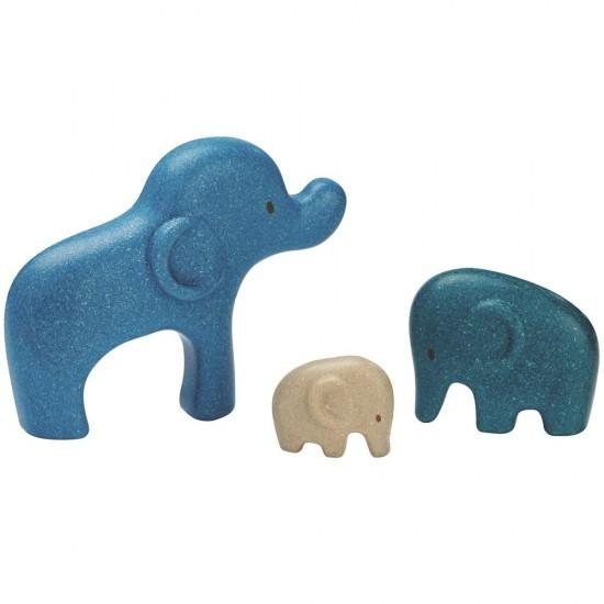 Elefanti - Puzzle din lemn