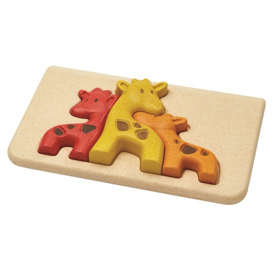 Girafe - Puzzle din lemn