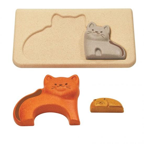Pisici - Puzzle din lemn