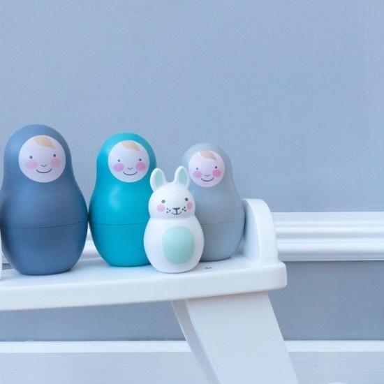 Jucarii multisenzoriale Nesting Babies - Blue