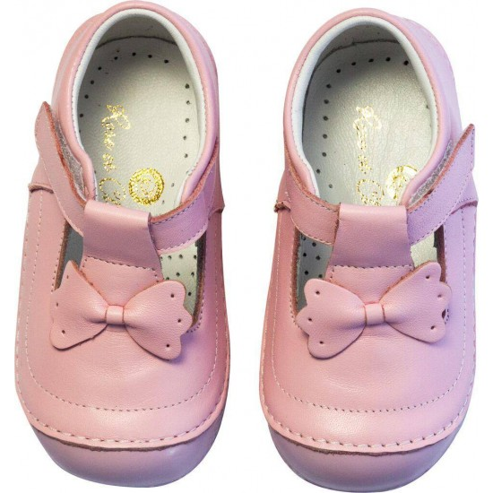 Sandale din piele - Rose et Chocolat - Classic Bow Pink