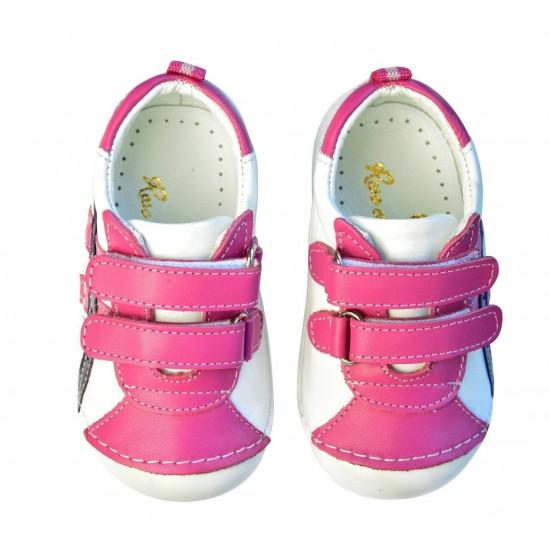 Ghete din piele cu velcro - Rose et Chocolat - Sneakers Pink
