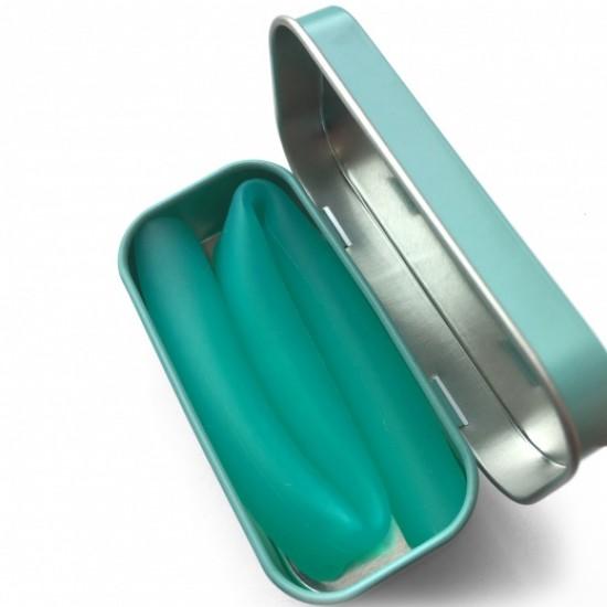 Pai refolosibil din silicon+cutie metalica de transport - Silikids - X-wide Sea
