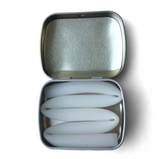 Pai refolosibil din silicon+cutie metalica de transport - Silikids - X-long Frost