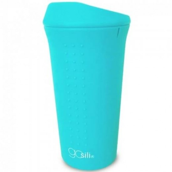 Cana din silicon cu capac si pai - GoSili - Aqua