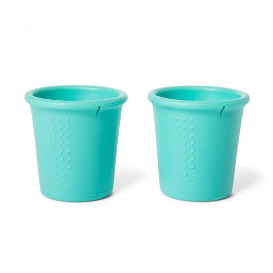 Set 2 pahare din silicon - Silikids - Aqua