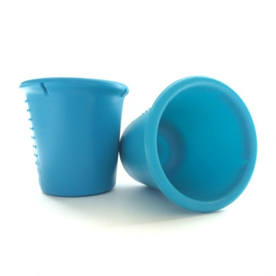 Set 2 pahare din silicon - Silikids - Teal
