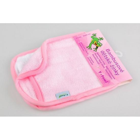 Manusi pentru baia bebelusului - Pink