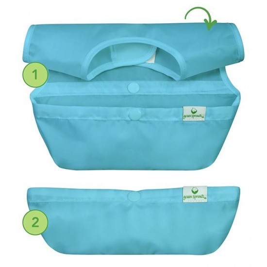 Set 3 bavetele Easy Wear Snap'n Go - Green Sprouts - Bee