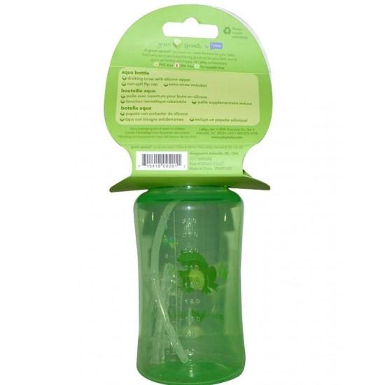 Sticla cu pai din silicon - Green Sprouts - Green