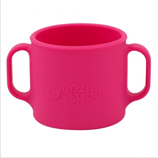 Cana de invatare - Learning Cup - Green Sprouts - Pink