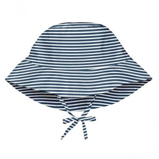 Palarie de soare pentru copii, reglabila - iPlay SPF 50+ - Navy Pinstripe