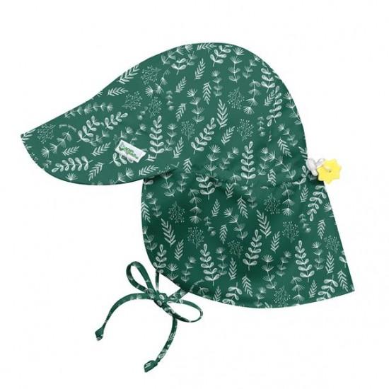 Palarie soare Green Fern SPF 50+ cu clapa si snur reglator