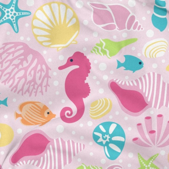 Slip inot refolosibil Pink Sealife SPF 50+ cu capse si volanase