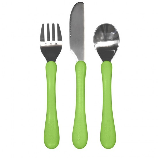 Set tacamuri de invatare - Learning Cutlery - Green Sprouts - Green